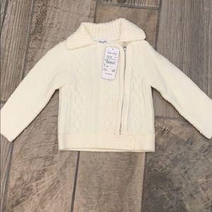 Splendid sweater 18-24 mo. NWT. Ivory